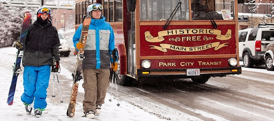 Park City ski resort USA skiing holidays nightlife on historic Main Street
